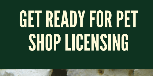 Get ready for pet shop licensing – how we can help